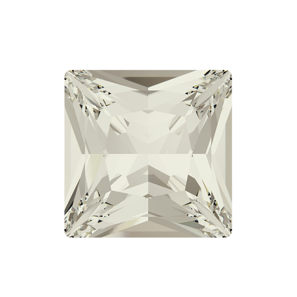 12x12mm Princess Square 4447 Swarovski Silver Shade color - 2 pcs pack