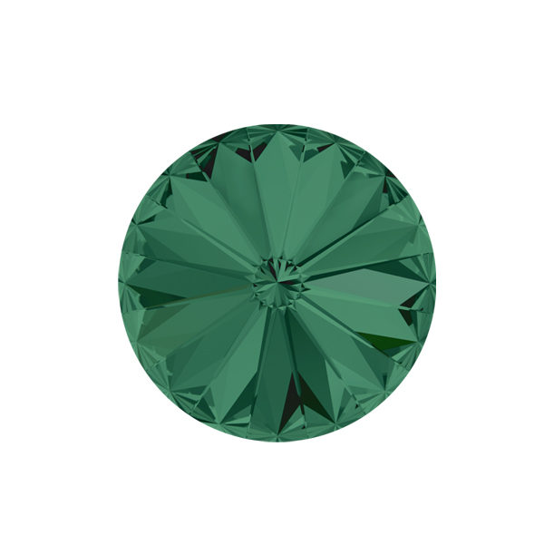 12mm Rivoli 1122 Swarovski Emerald color - 2 pcs pack