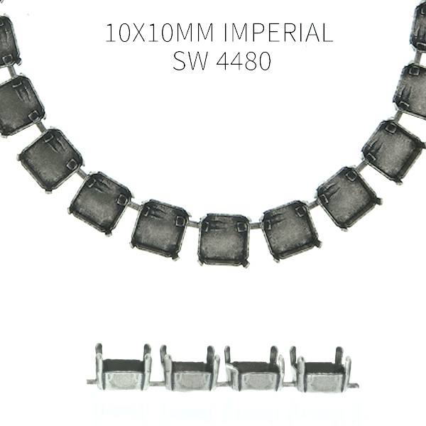 10x10mm Imperial SW 4480 empty Cup chain by meter for Necklace - 1 meter