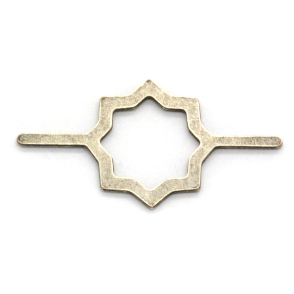 Star shaped jewelry connector - 5pcs pack