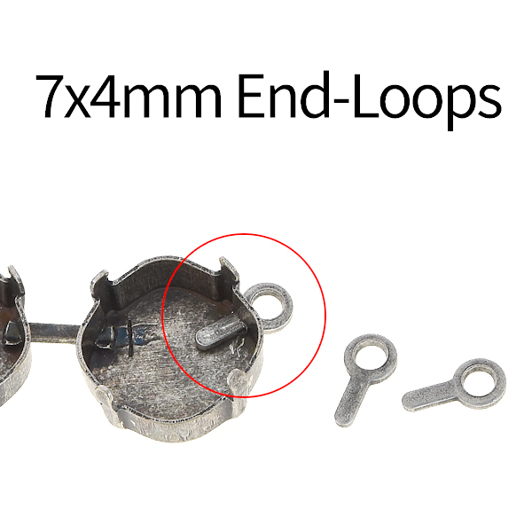 7x4mm End-loop for jewelry cup chain - 20pcs packs