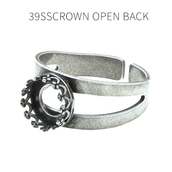 39ss Crown open back setting Double rows Adjustable ring base