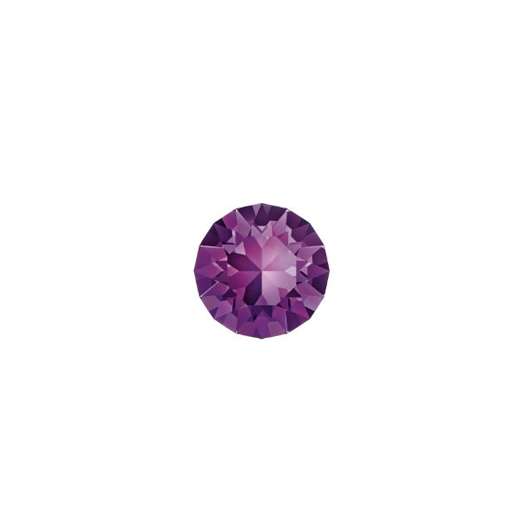 24ss Chaton 1088 Swarovski Amethyst color - 15 pcs pack