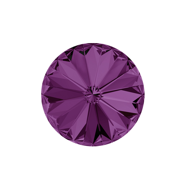 12mm Rivoli 1122 Swarovski Amethyst color - 2 pcs pack