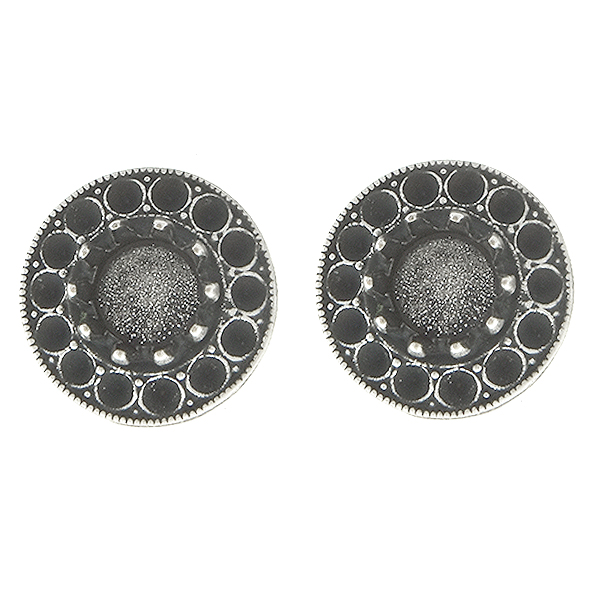 Metal casting hollow circle elements for 8pp and 29ss crown settings Stud Earring bases