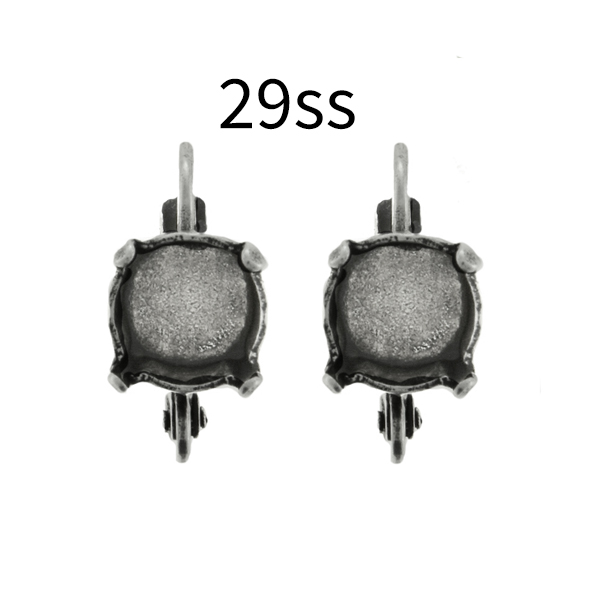 29ss Lever back Earring base with bottom profile loop