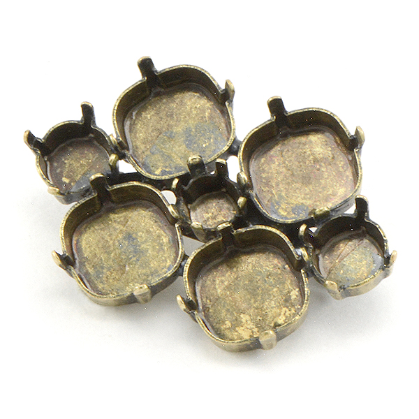 29ss, 39ss, 12mm Rivoli Brooch base