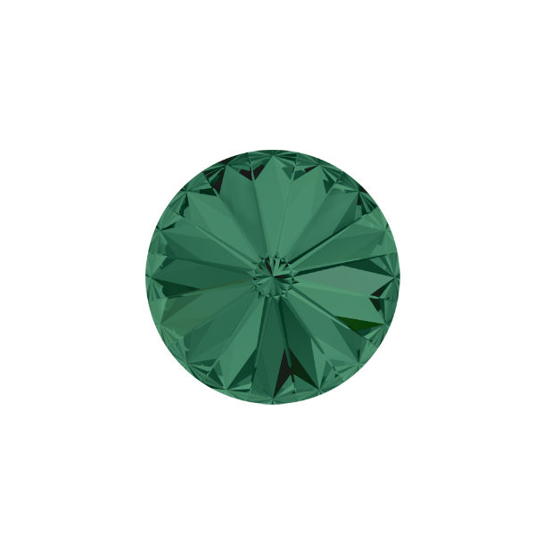 10mm Rivoli 1122 Swarovski Emerald color - 5 pcs pack