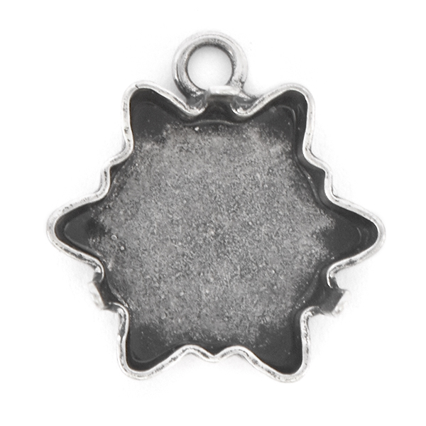 18mm Edelweiss Pendant base with top loop