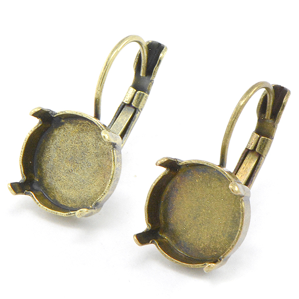 12mm Rivoli Leverback Earring base