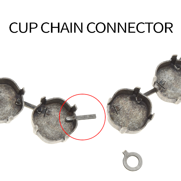 14.7mm Connector with loop for Jewelry Cup chain - 20pcs pack