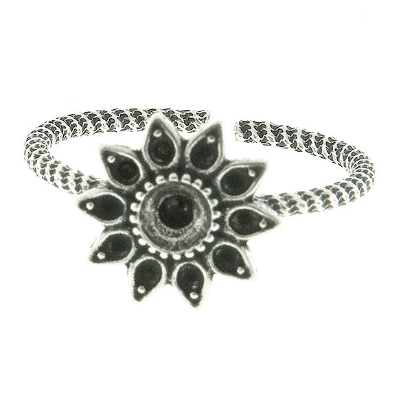 8pp and 32pp metal casting Daisy Flower Adjustable ring base
