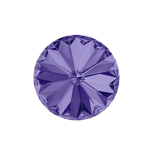 12mm Rivoli 1122 Swarovski Tanzanite color - 2 pcs pack