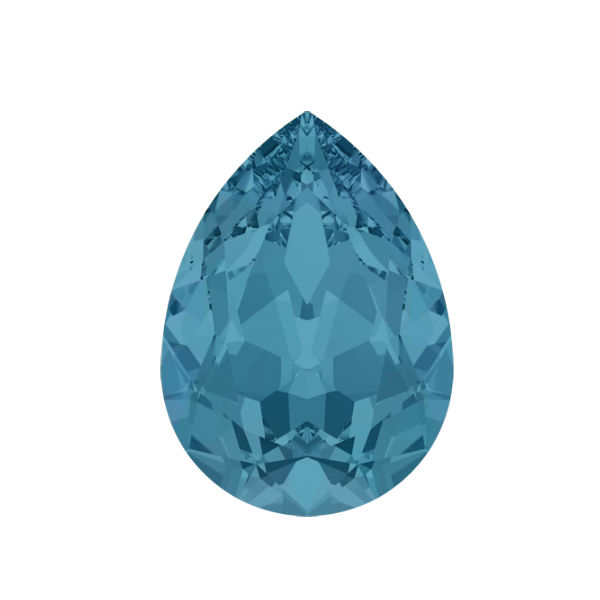 14x10mm Pear shape 4320 Swarovski Caribbean Blue Opal color