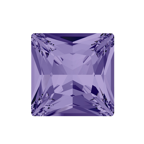 12x12mm Princess Square 4447 Swarovski Tanzanite color - 2 pcs pack