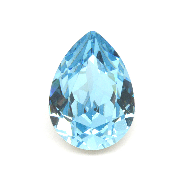 14x10mm Pear shape 4320 Swarovski Aquamarine color