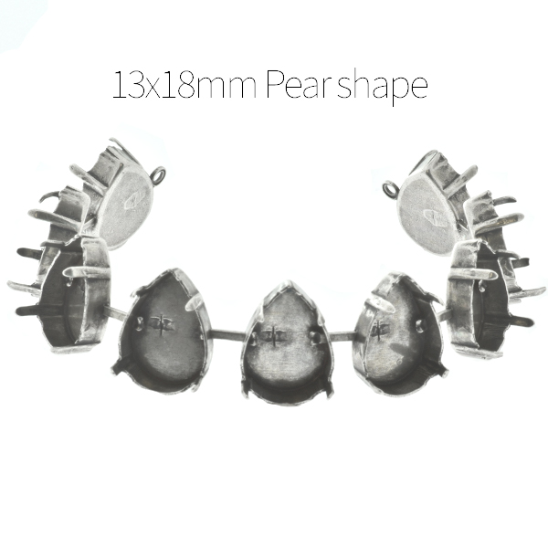 13x18mm Pear shape cup chain Bracelet base