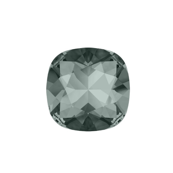 10x10mm Square 4470 Swarovski Black Diamond color - 2 pcs pack