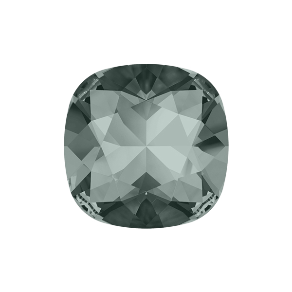 12x12mm Square 4470 Swarovski Black Diamond color