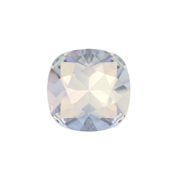 10x10mm Square 4470 Swarovski White Opal color - 2 pcs pack