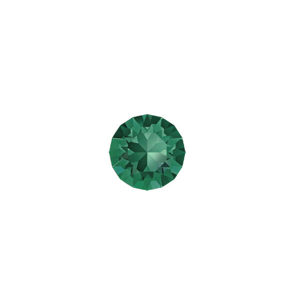 24ss Chaton 1088 Swarovski Emerald color - 15 pcs pack