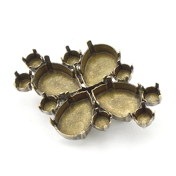 29ss, 13x18mm Pear shape Brooch base
