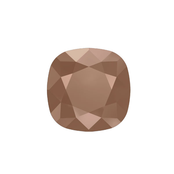 10x10mm Square 4470 Swarovski Rose Gold color - 2 pcs pack