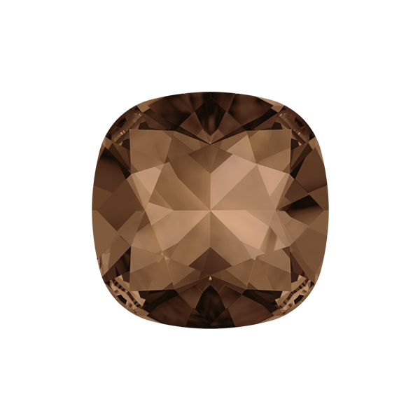 12x12mm Square 4470 Swarovski Smoked Topaz color