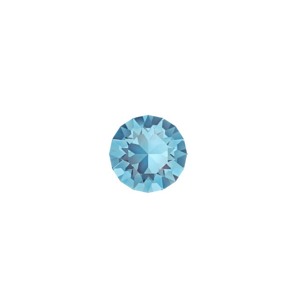 24ss Chaton 1088 Swarovski Aquamarine color - 15 pcs pack