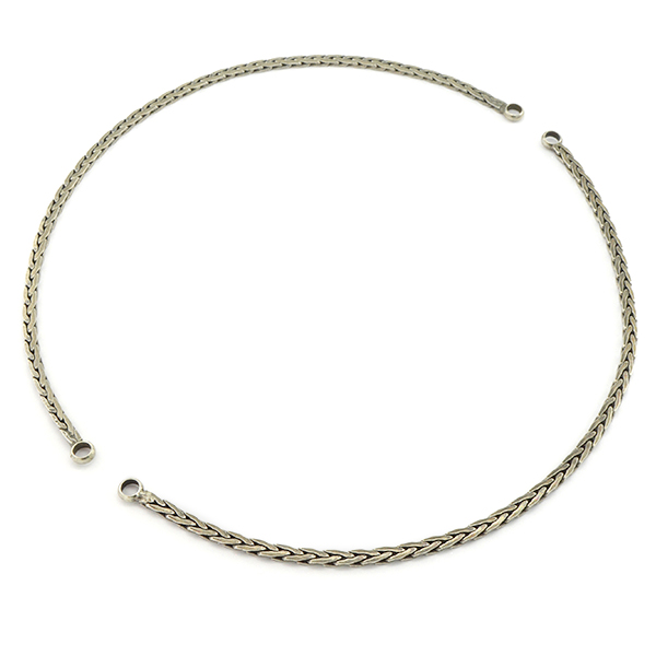 45cm 3.5mm Flat snake chain with soldered loops - 2 parts/pack